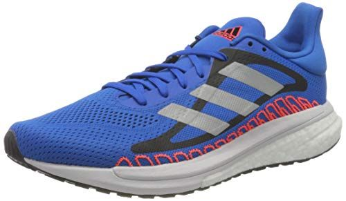 adidas Men's Glide ST M Running Shoe, Football Blue/Silver Met./Solar Red