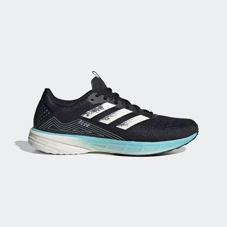 adidas SL20 PrimeBlue Running Shoes - Core Black/Chalk White/Blue Spirit - US 12.5/UK 12