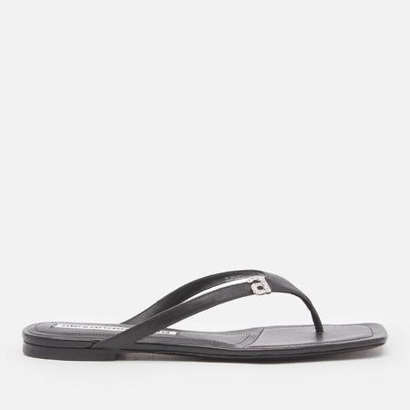 Alexander Wang Women's Ivy Toe Post Sandals - Black - UK 3