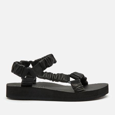Arizona Love Women's Trekky Leather Sandals - Black - UK 5