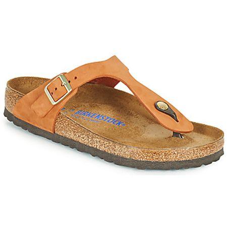 Birkenstock  GIZEH SFB  women's Flip flops / Sandals (Shoes) in Orange
