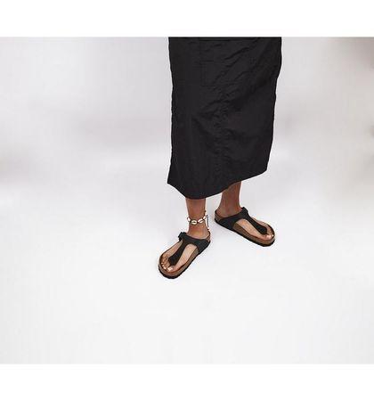 BIRKENSTOCK Gizeh Toe Thong Footbed Sandals BLACK