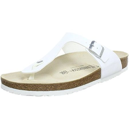 Birkenstock Gizeh Toe Thong Footbed White Synthetic