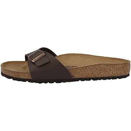 Birkenstock Schuhe Madrid Birko, Flor Normal Dark Brown (040391) 42 Braun