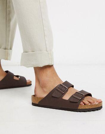 Birkenstock vegan arizona birko-flo sandals in brown