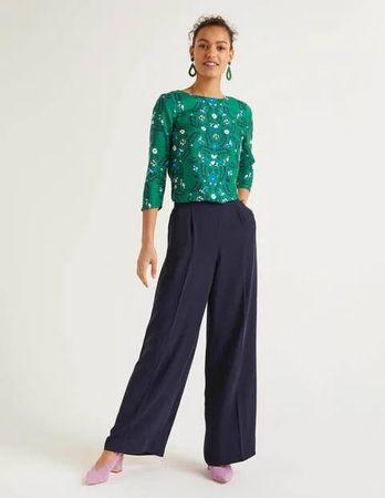 Boden Gresham Trousers Navy Women Boden  Size: 10 R