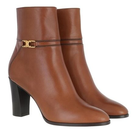 Celine Boots & Ankle Boots - Claude Ankle Boots Leather - cognac - Boots & Ankle Boots for ladies