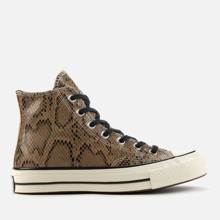 Converse Chuck 70 Archive Reptile Hi-Top Trainers - Brown - UK 3