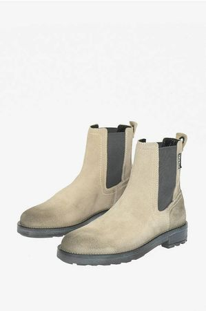Diesel Suede Leather D-THROUPER Chelsea Boots size 44