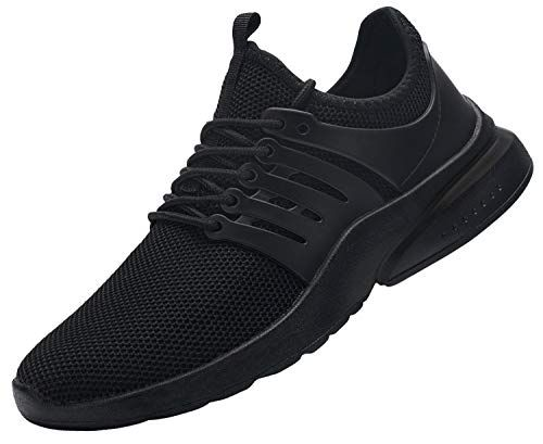 DYKHMILY Waterproof Safety Shoes for Men Women Steel Toe Cap Trainers Lightweight Breathable Puncture Proof Work Trainers (Origin Black