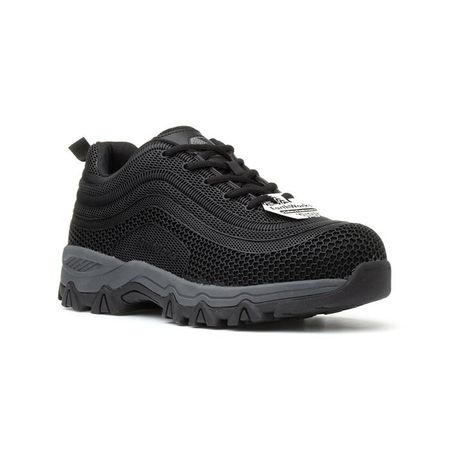 Earth Works Black Lace Up Safety Shoe