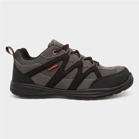 Earth Works Mens Grey Lace Up Safety Shoe