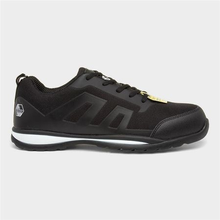 Earth Works Mens Lace Up Black Safety Shoe