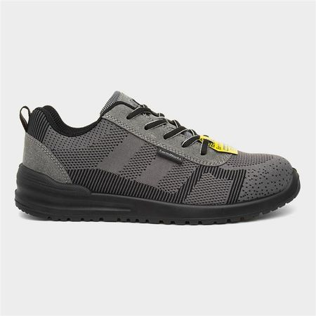 Earth Works Mens Lace Up Grey Safety Shoe