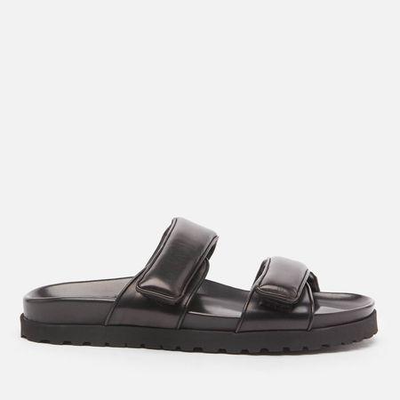 GIA X PERNILLE TEISBAEK Women's Perni 11 Leather Platform Sandals - Black - UK 3
