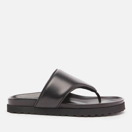 GIA X PERNILLE TEISBAEK Women's Perni 12 Leather Toe Post Sandals - Black - UK 3