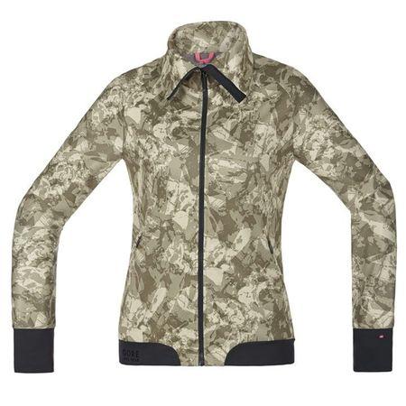 GORE WEAR Power Trail Women's Wind Jacket, camouflage Women's Wind Jacket, size