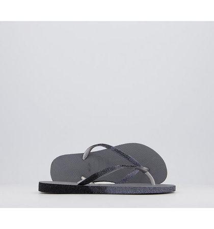 Havaianas Slim Sparkle II Flip Flops GREY