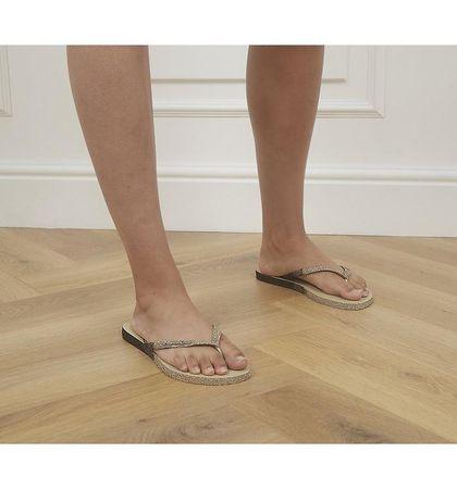 Havaianas Slim Sparkle II Flip Flops SAND GREY