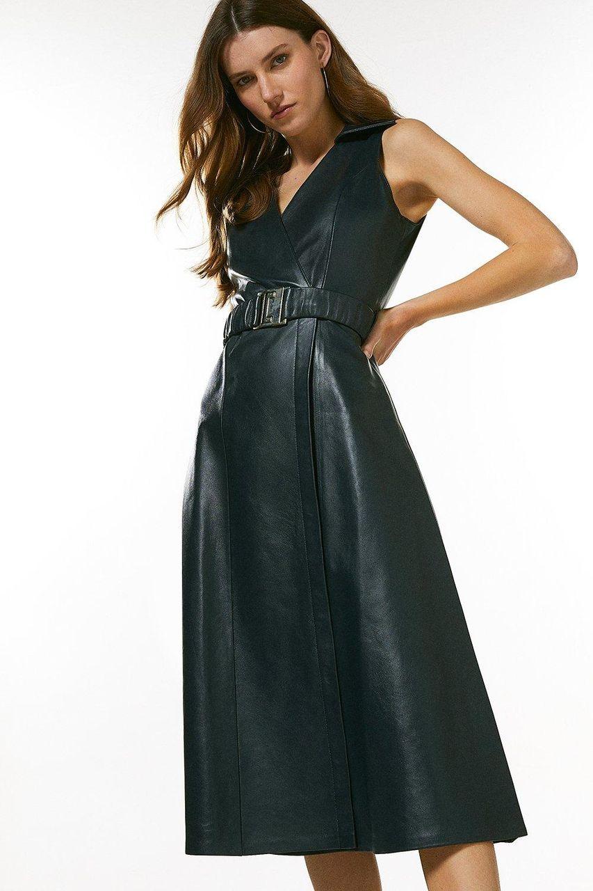 Tommy Hilfiger Brown Leather Jacket - ThriftedThreads.com
