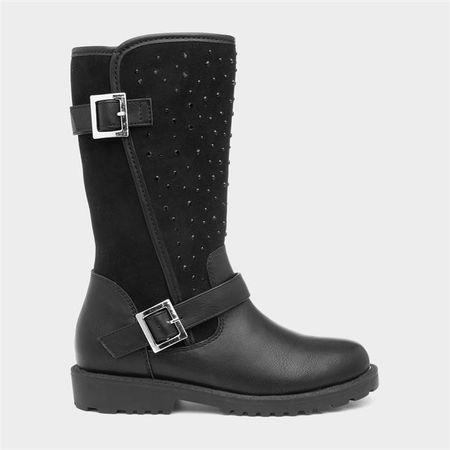 Lilley Girls Black Diamante Calf Boot