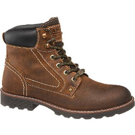 Mens Landrover Brown Leather Lace-up Boots