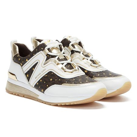 Michael Kors Pippin Womens White / Brown Trainers