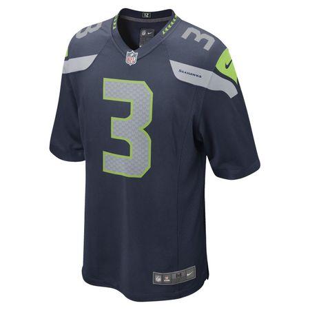 NFL Seattle Seahawks (Russell Wilson) Men's Game American Football Jersey - Blue