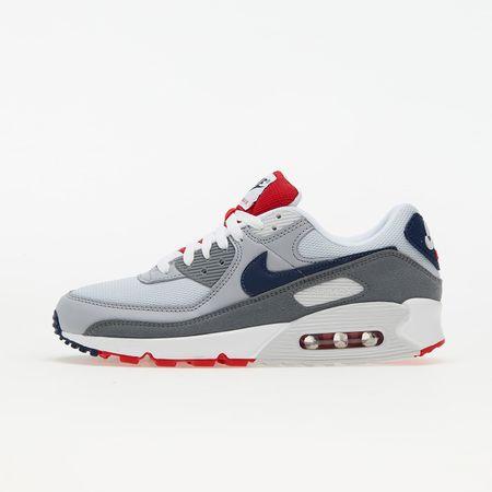 Nike Air Max 90 Pure Platinum/ Midnight Navy-Wolf Grey