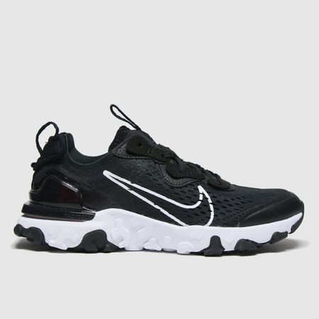 Nike Black & White React Vision Trainers Youth