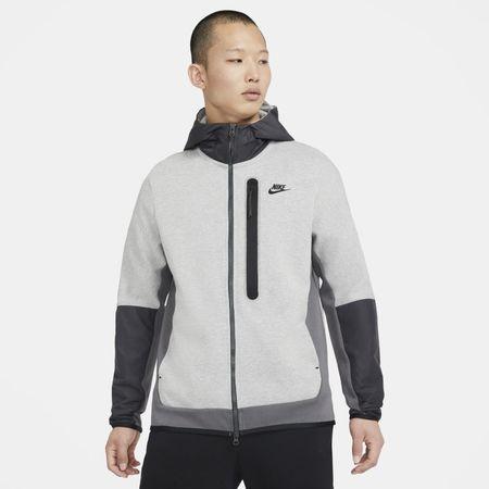 Nike Sportswear Tech Fleece Men's Full-Zip Woven Hoodie - Grey