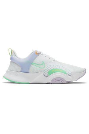 Nike SuperRep Go 2 Training Shoes - White/Infinite Lilac/Football Grey/Green Glow - UK 8