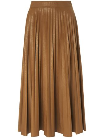 Pleated skirt in midi length Marella brown size: 12