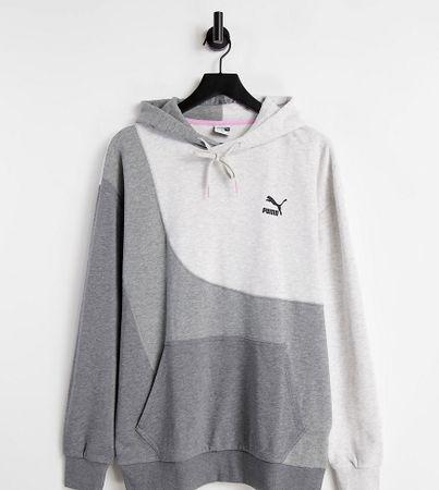 Puma convey hoodie in grey colourblock exclusive to ASOS