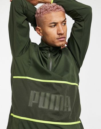 Puma Training Graphic jacket in green