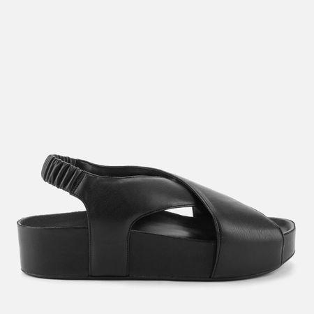 Simon Miller Women's Vegan Cross Dip Cross Front Sandals - Black - UK 3