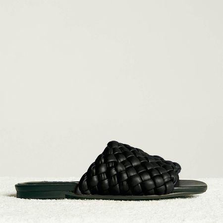 Simon Miller Women's Vegan Slit Slide Sandals - Black - UK 3