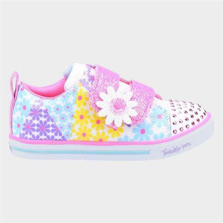 Skechers Girls Sparkle Lite Mini Blooms in White