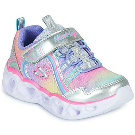 Skechers  HEART LIGHTS RAINBOW LUX  girls's Shoes (Trainers) in Silver