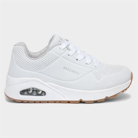 Skechers Uno Stand On Air Girls White Trainer