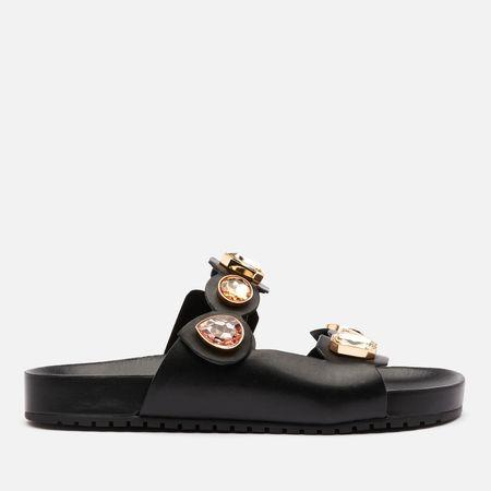 Sophia Webster Women's Ritzy Slide Sandals - Black/Gold - UK 3