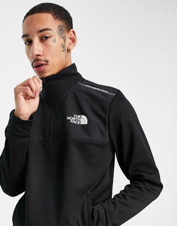 The North Face Mountain Athletic 1/4 zip fleece in black