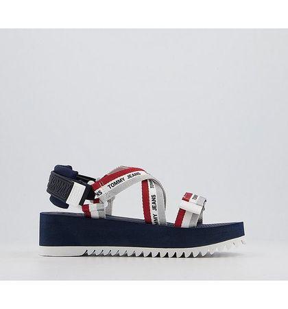 Tommy Hilfiger Lurex Strappy Sandals TWILIGHT NAVY RED WHITE
