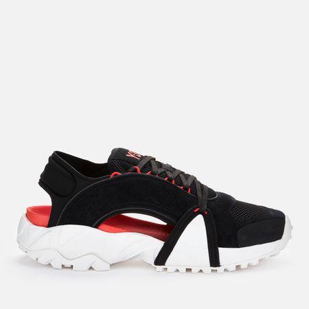 Y-3 Men's Notoma Sandals - Black/Chalk White/Red - UK 10